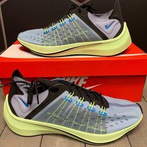 New Nike EXP X-14 Photo Blue Green Volt Shoe
